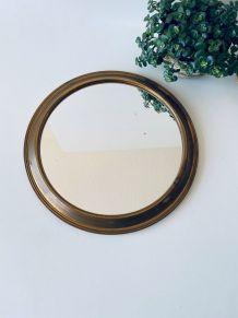 Miroir rond ancien à poser