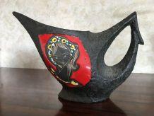 -Pichet en céramique et émail de lave grasse San Marino fab