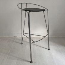 Tabouret de bar 80's demi lune design Pascal Mourgue