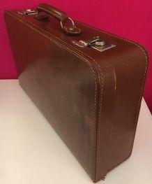 Valise vintage cuir marron