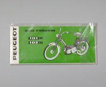 Notice d'Utilisation Cyclomoteur Peugeot 1968