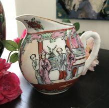 Pot à Lait Vintage Porcelaine Canton