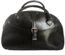 Sac à main vintage - magnifique cuir noir, début XXème