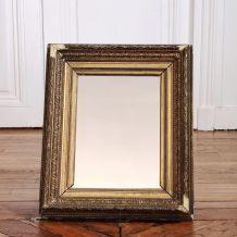 Miroir feuille d'or style barbizon