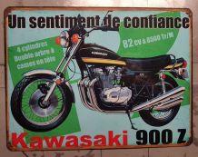 Plaque métal Kawasaki 900 Z