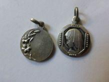 medaille vierge en argent
