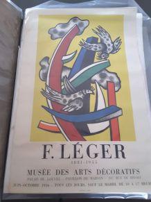 Ancienne affiche expo du musée art décoratif paris