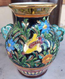 Vase LAMARCHE Monaco motif cloisonné fleuri