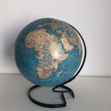 Globe terrestre Taride torsadé  vintage 1974 - 30 cm