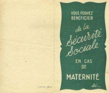 Série 6 Feuillets Sécurité Sociale 1946