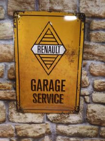 PLAQUE METAL DECO RENAULT GARAGE