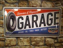 PLAQUE METAL GARAGE