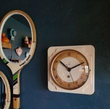 """Horloge vintage, pendule murale """"Jaz Crème"""""""