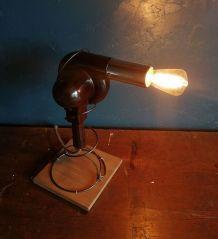 """Lampe vintage, lampe industrielle """"Brown Hair"""""""