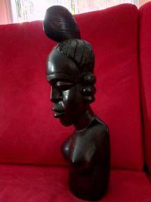 Statue  Afrique année 70 bois lourd