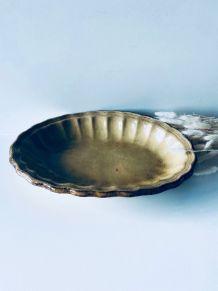Grand plat ancien ovale en terre cuite