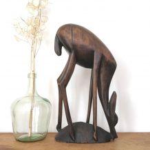 Antilope en bois 42cm
