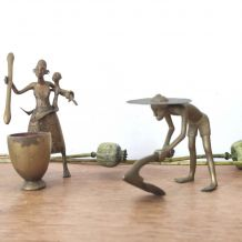Couple cultivateurs bronze