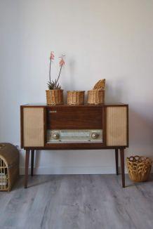 Meuble radio / tourne-disques SABA années 1960