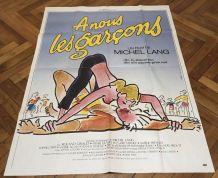 Grande affiche cinéma originale A nous les garçons 1985