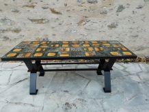 Table basse céramique années 60/70