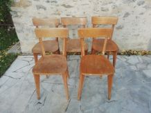 Lot de 5 chaises scandinaves années 60/70