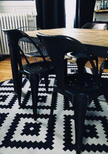 Lot 2 chaises métal style industriel