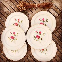 Série de 6 assiettes vintage en porcelaine