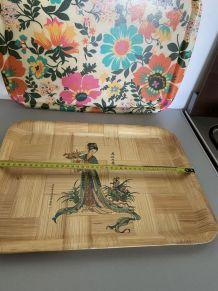 Plateau bambou vintage