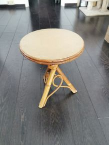 Table basse en bambou vintage