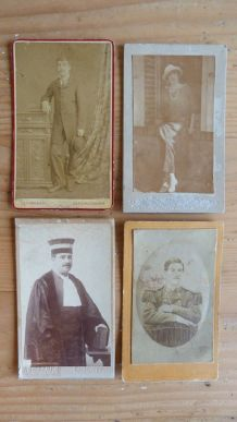 Photos anciennes portraits cartes de visite