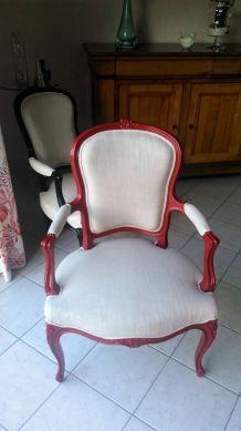Lot de 2 fauteuils refaits à neuf