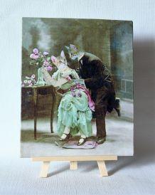 Chats amoureux  retros 1900. Photomontage.