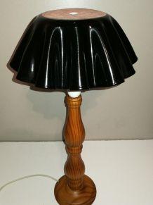 Lampe vintage bois design vinyle 33 tours Art 80's