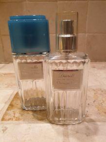 Lot 2 bouteilles parfum vides années 80 Diorella état parfai