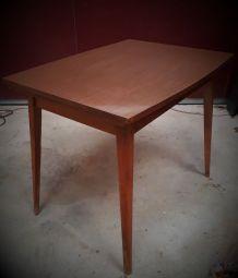 table scandinave dessus formica pied bois   avec ralonge155