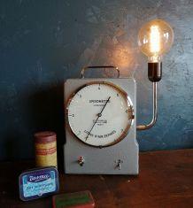 "Lampe vintage, lampe industrielle - ""Respire"""