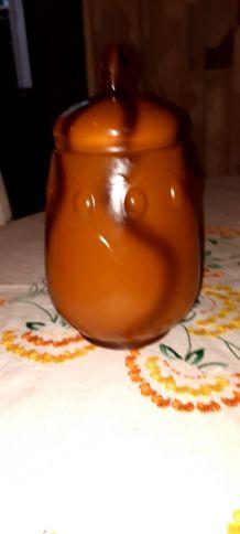 Pot en verre pour fruits à l'eau de vie ou au sirop....ou dé