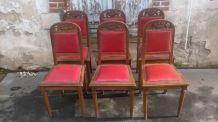 six chaise art déco
