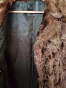 Manteau en fourrure de vison véritable