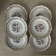 Série de 6 assiettes à dessert - en porcelaine