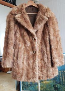 Fourrure en patte de Vison, très belle veste