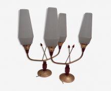 Paire de lampes années 50