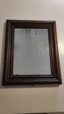 miroir ancien au mercure et cadre bois