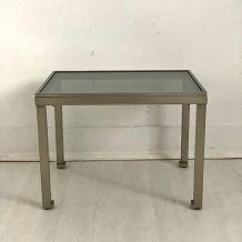Petite table basse 70's design Guy Lefevre Maison Jansen