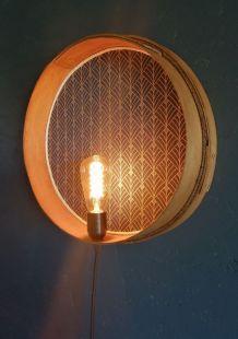 """Applique vintage, lampe murale """"Bleu doré"""""""