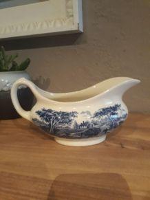 Sauciere porcelaine anglaise staffordshire