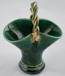 Panier vert en céramique de Louviers
