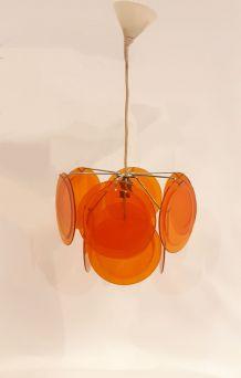 Lustre avec 10 disques orange