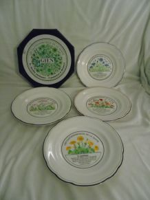 lot de 4 assiettes